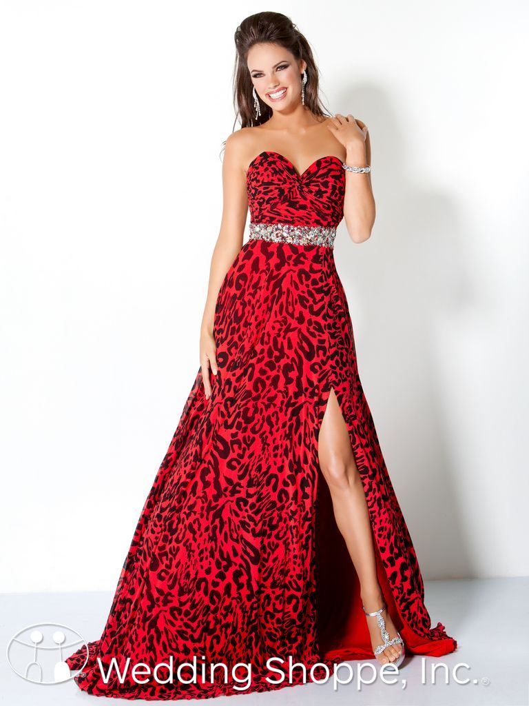 Jovani Leopard Prom Dress