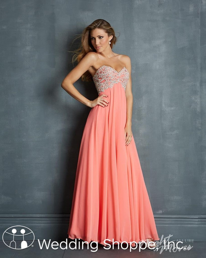 Night Moves Pink Prom Dress