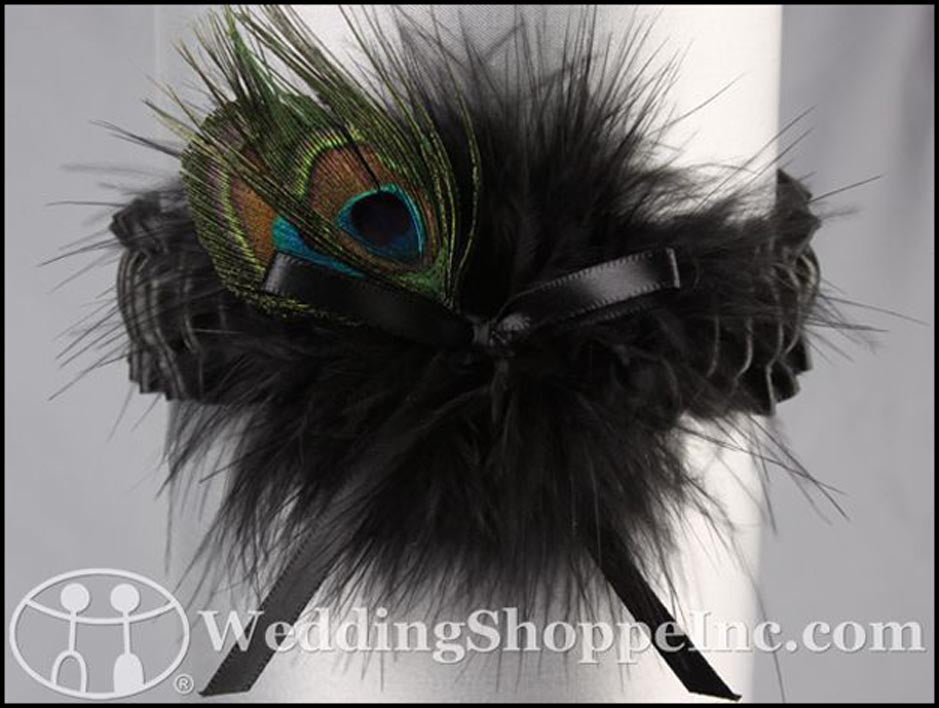 Peacock Feather Garter for Prom: Ivy Lane Prom Garter 20-2017