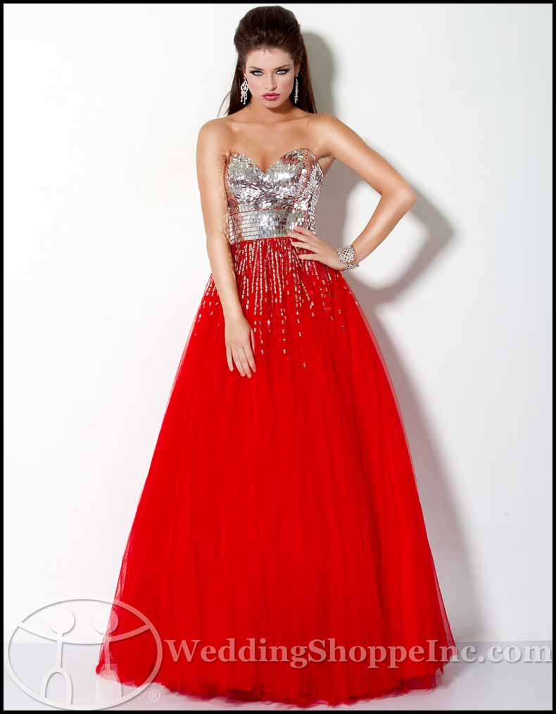 Mirror ball gown prom dress style 159499 from Jovani