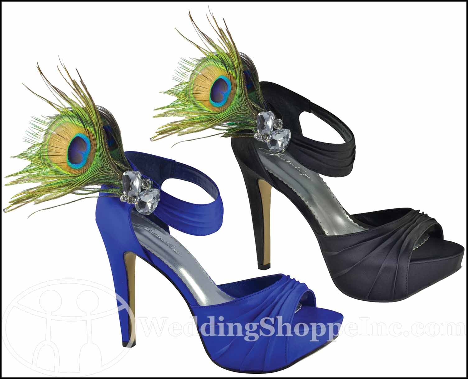 Peacock Feather Shoes: Touch Ups Peacock Heels