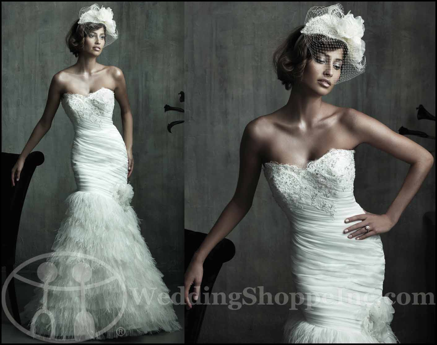 Fit and Flare Wedding Gowns: Allure Couture C174