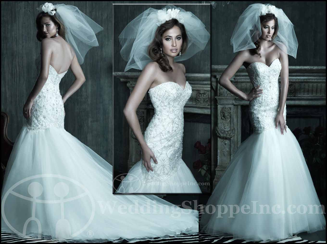 Fit and Flare Wedding Gowns: Allure Couture C208