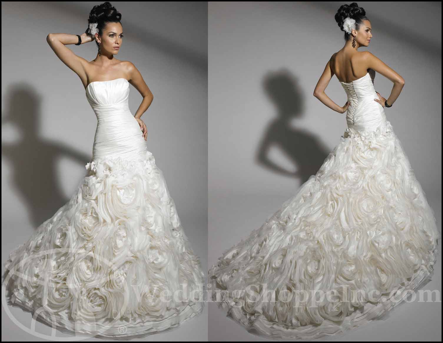 Fit and Flare Wedding Gowns: Jacquelin 19881