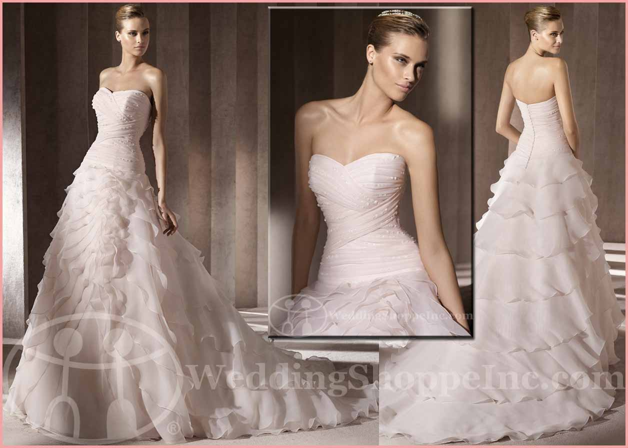 Colored Wedding Gowns: Pronovias Bibiana