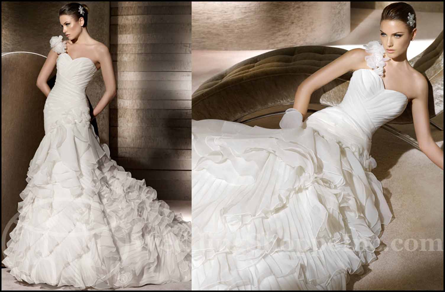 Fit and Flare Wedding Gowns: San Patrick Remi