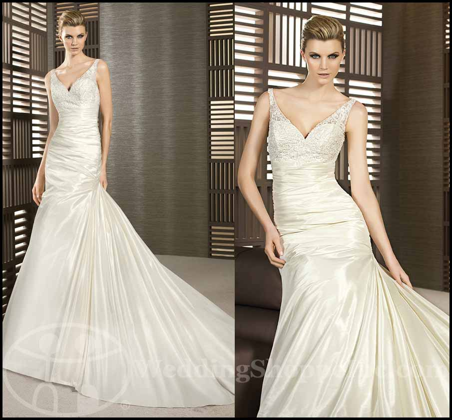 Fit and Flare Wedding Gowns: White One Tombola