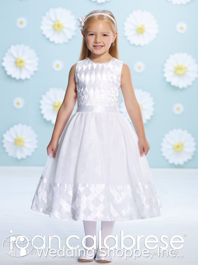 Joan Calabrese Sleeveless Flower Girl Dress