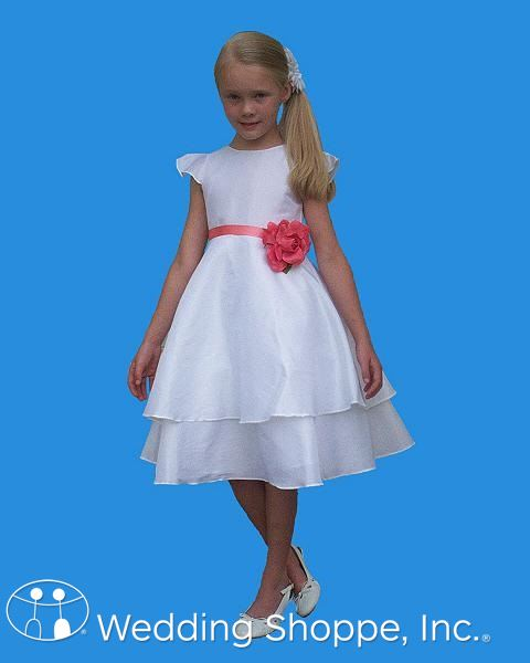 Rosebud Flower Girl Dress with Colored Sash