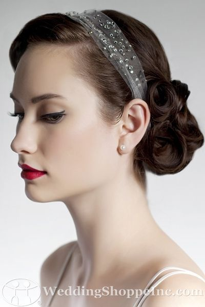 Bridal hairstyles with tiara ideas from Wedding Shoppe Inc.