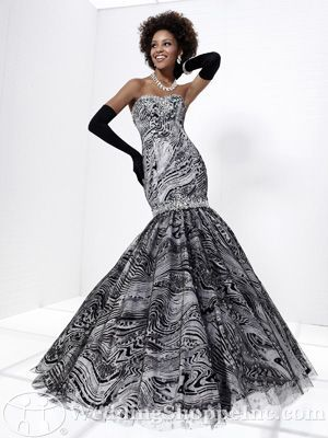 Black and White Tiffany Prom Dresses at the Wedding Shoppe
