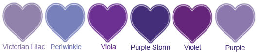 Alfred Angelo color chart - purple