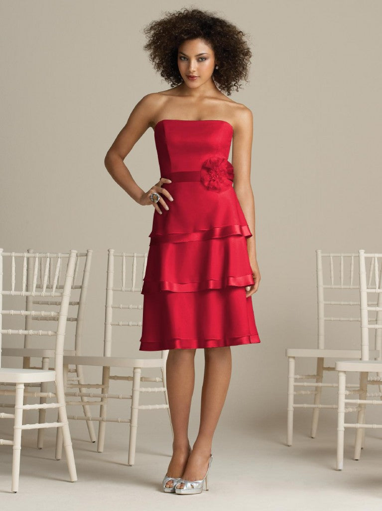 After six bridesmaid dress 6576 - Flame