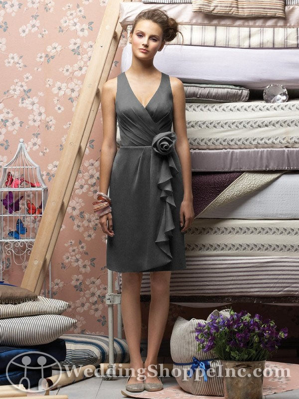 Charcoal Lela Rose bridesmaid dresses