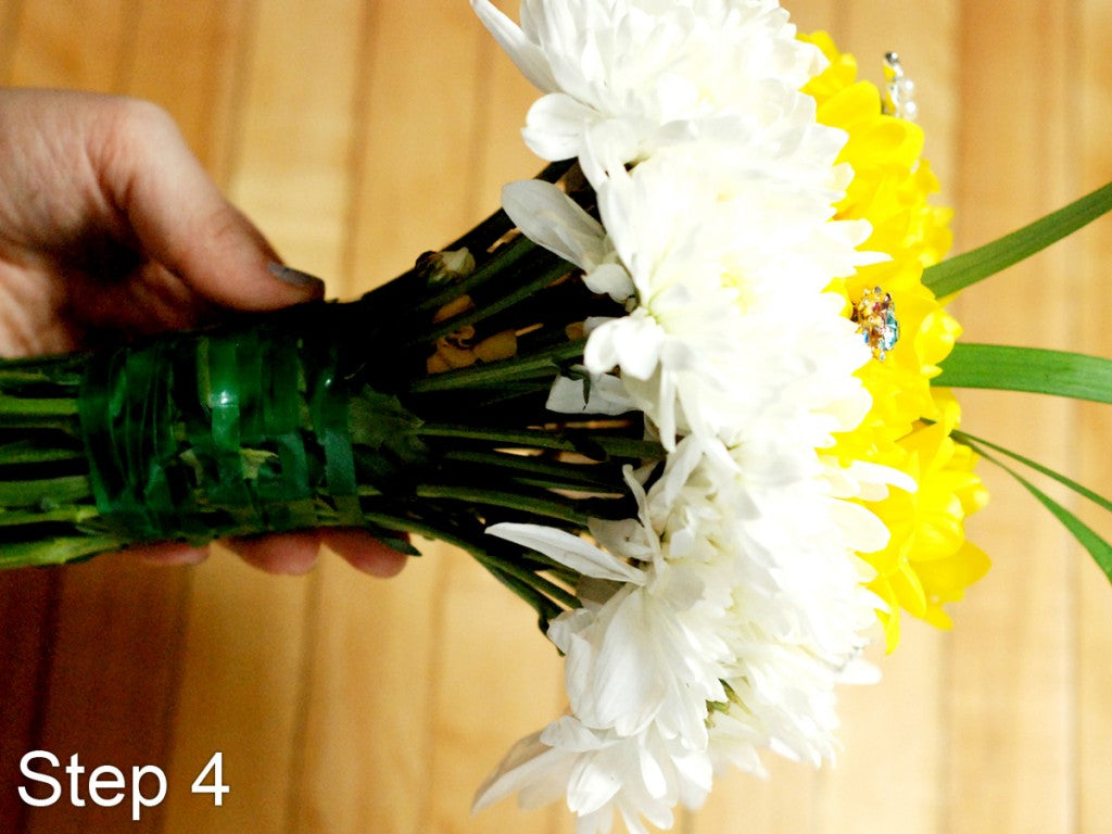 How to Build your own Wedding Bouquet- Step 5