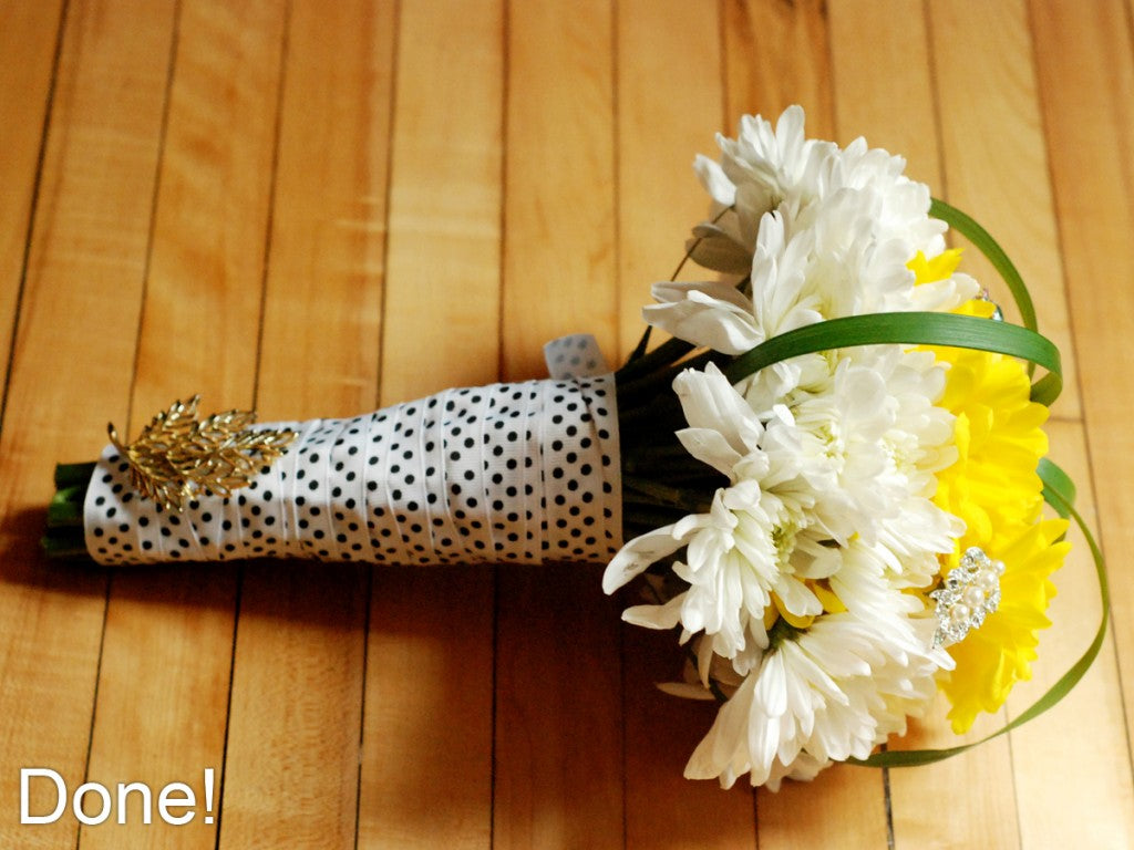 How to Build your own Wedding Bouquet- DONE!