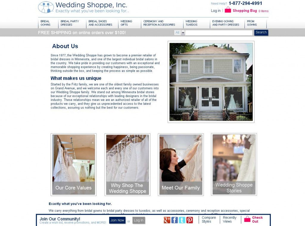 Meet the Wedding Shoppe family and buy online wedding dresses with confidence.