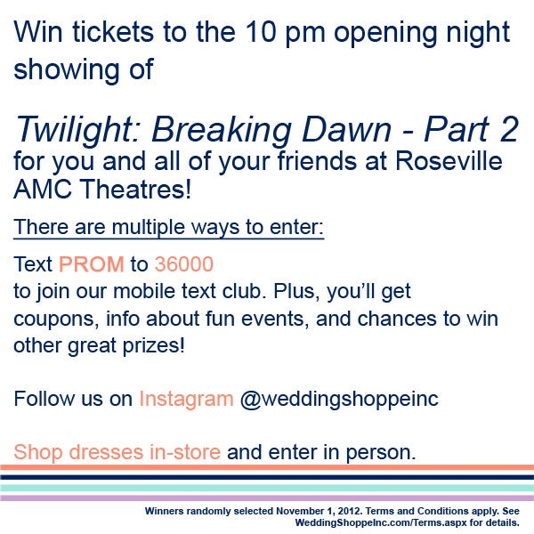 How to win free Breaking Dawn movie tickets!