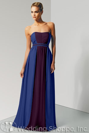 Bari Jay blue bridesmaid dress
