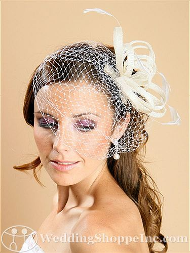 Wedding headpieces: Mariell 1143H in white