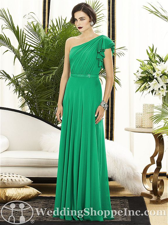Vintage Hollywood glam bridesmaid dresses in green