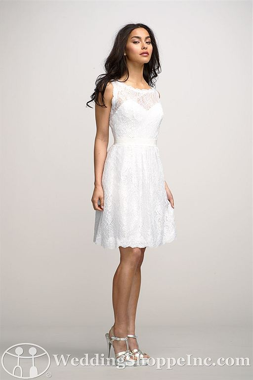 Short white wedding dresses: Encore by Watters Camellia