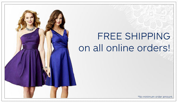 Cyber Monday specials on wedding dresses and bridesmaid dresses