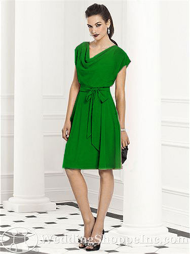 Green bridesmaid dress by After Six