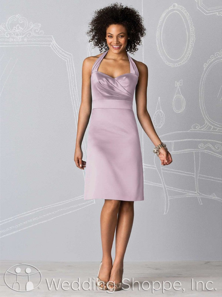 Dusty pink bridal party dresses: After Six 6598 in Suede Rose