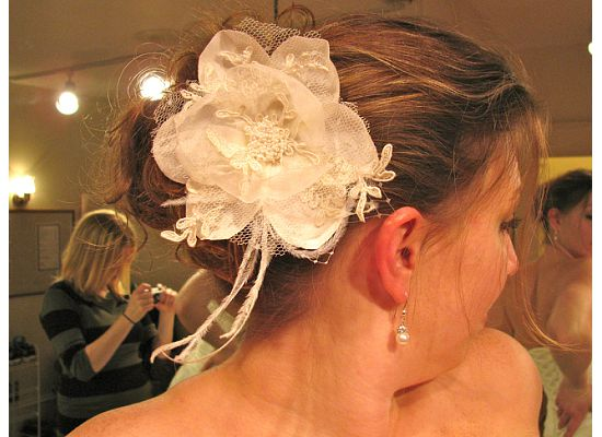 Custom wedding veils and headpieces by Angel's Halo