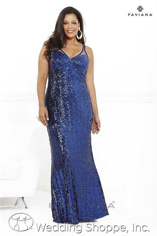 Plus size prom gowns: Faviana 9286
