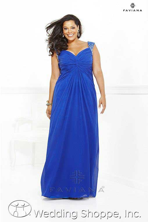 Plus size prom gowns: Faviana 9290