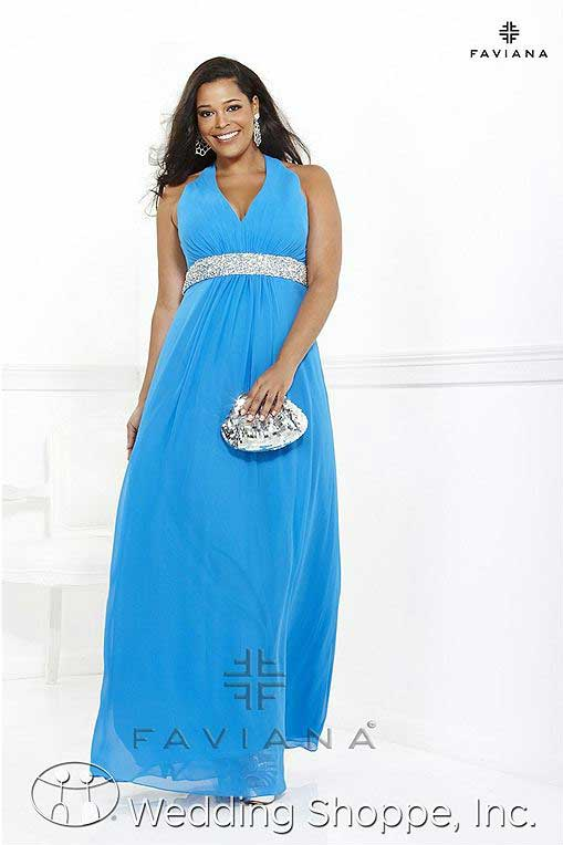 Plus size prom gowns: Faviana 9314