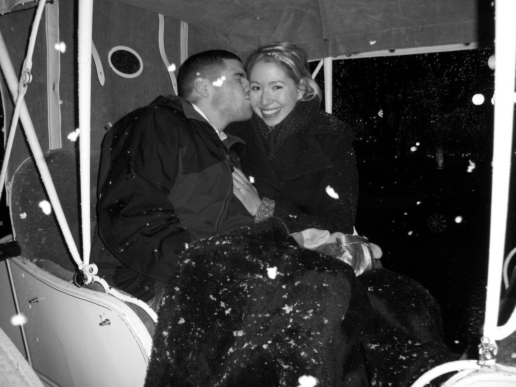 Winter proposal stories: Kendra and Antonio