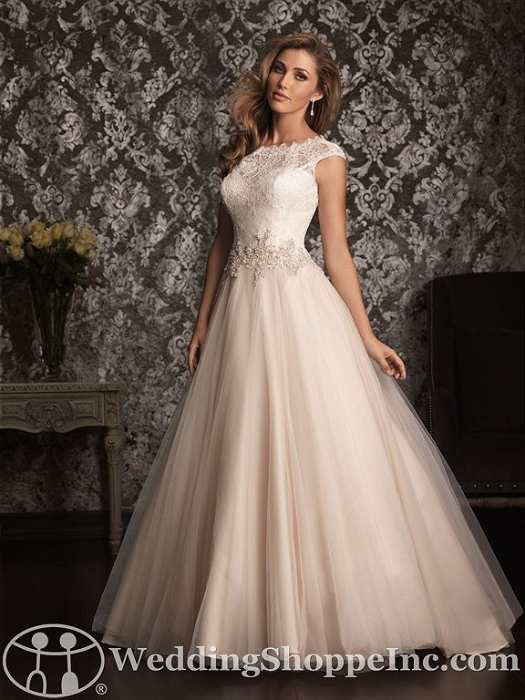 Blush colored wedding dresses: Allure 9022