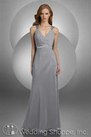 V-neck bridesmaid dresses: Bari Jay 411