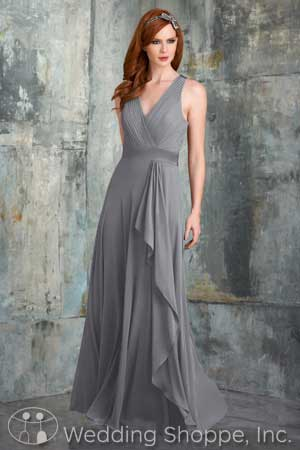 V-neck bridesmaid dresses: Bari Jay 533