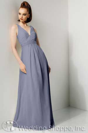 V-neck bridesmaid dresses: Bari Jay 649