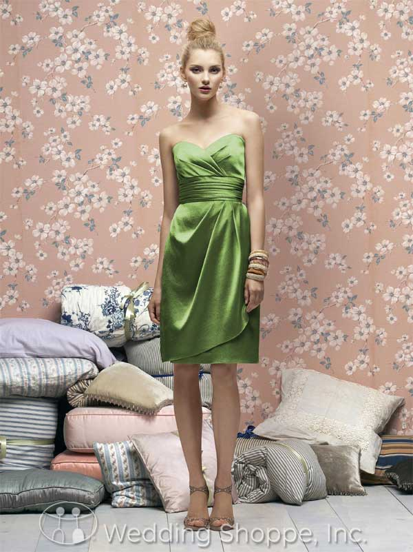 Green bridal party dress: Lela Rose LR168