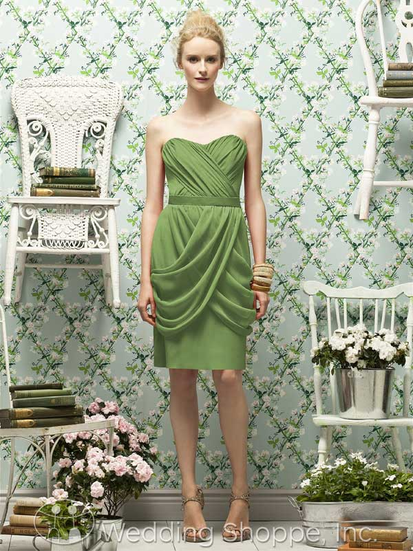 Green bridal party dress: Lela Rose LR180