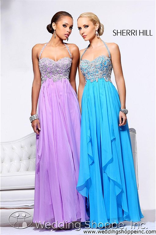 Halter sequin prom dress: Sherri Hill 3836