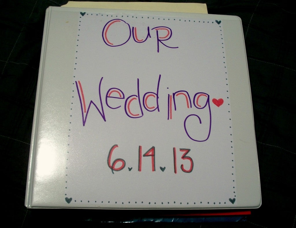 Wedding Planner Organizer Binder