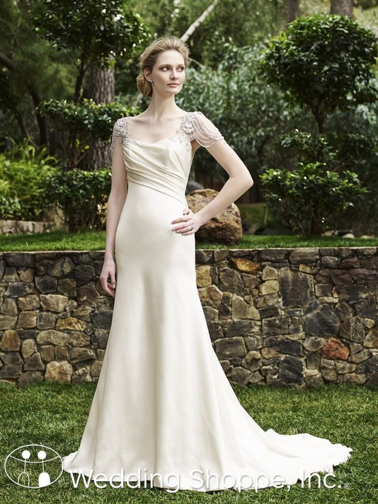 Casablanca Bridal Gown Olive Grecian Style