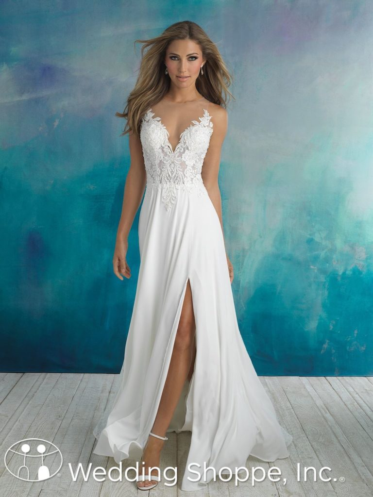 Allure Bridal Gown 9510 Grecian Style