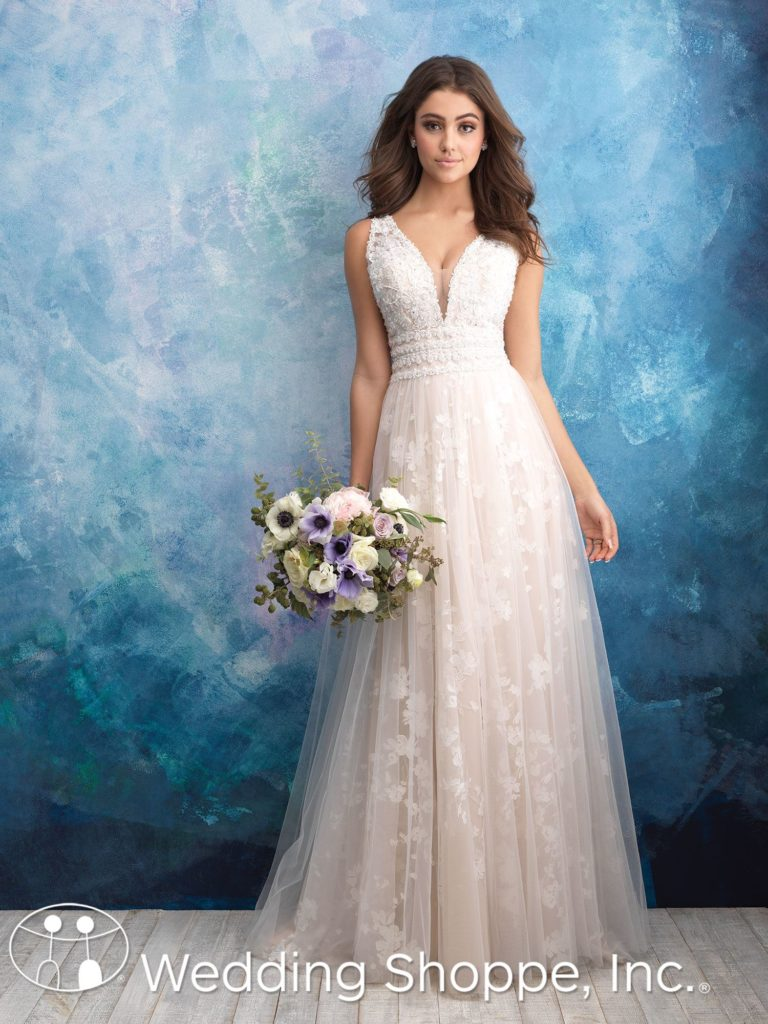 Allure Bridal Gown 9561 Grecian Style