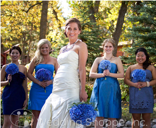 something blue ideas: bridesmaids