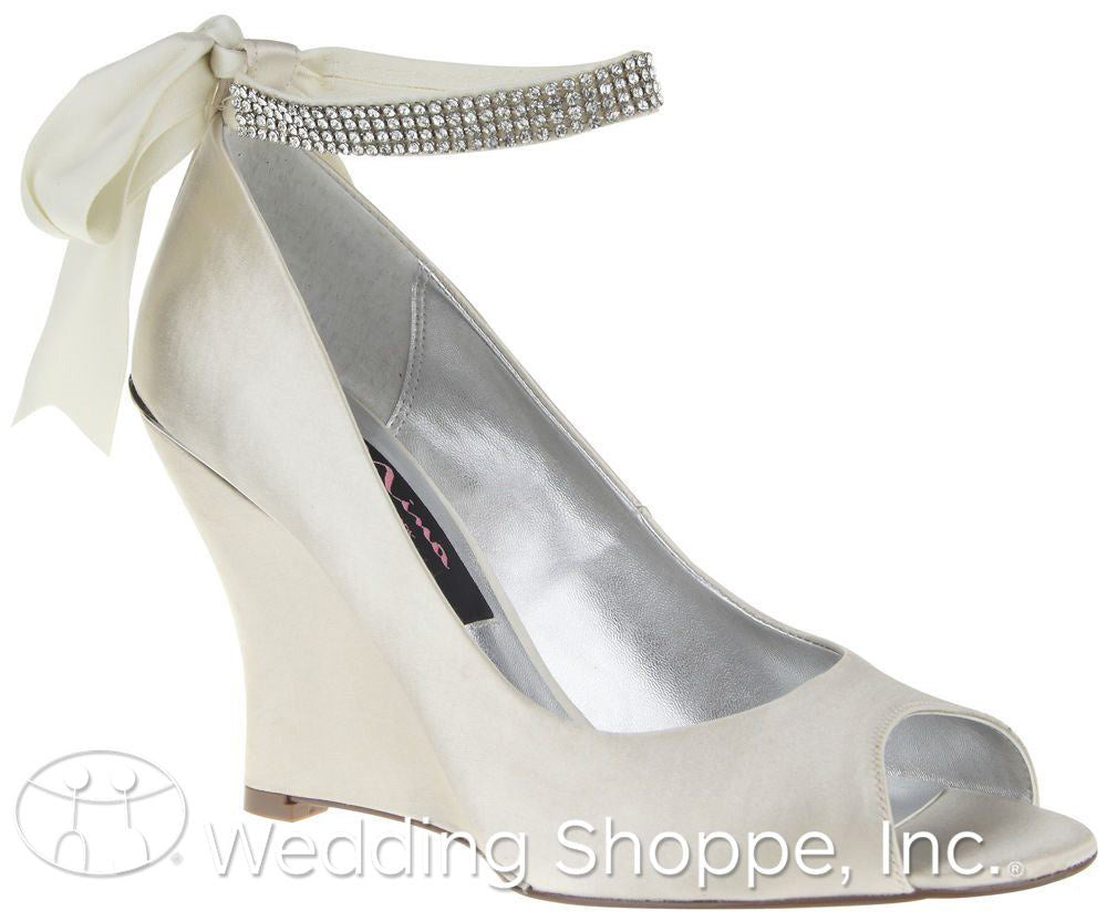 Emma Bridal Wedges