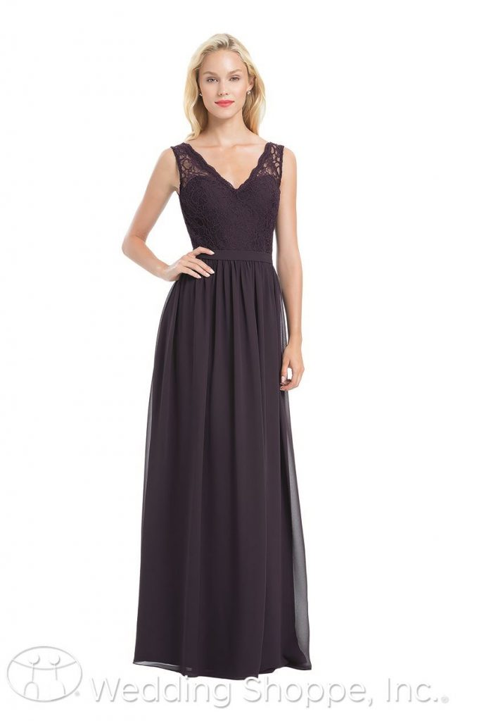 A lace and chiffon bridesmaid dress that's perfectly romantic | Bill Levkoff 1172 | The Wedding Shoppe