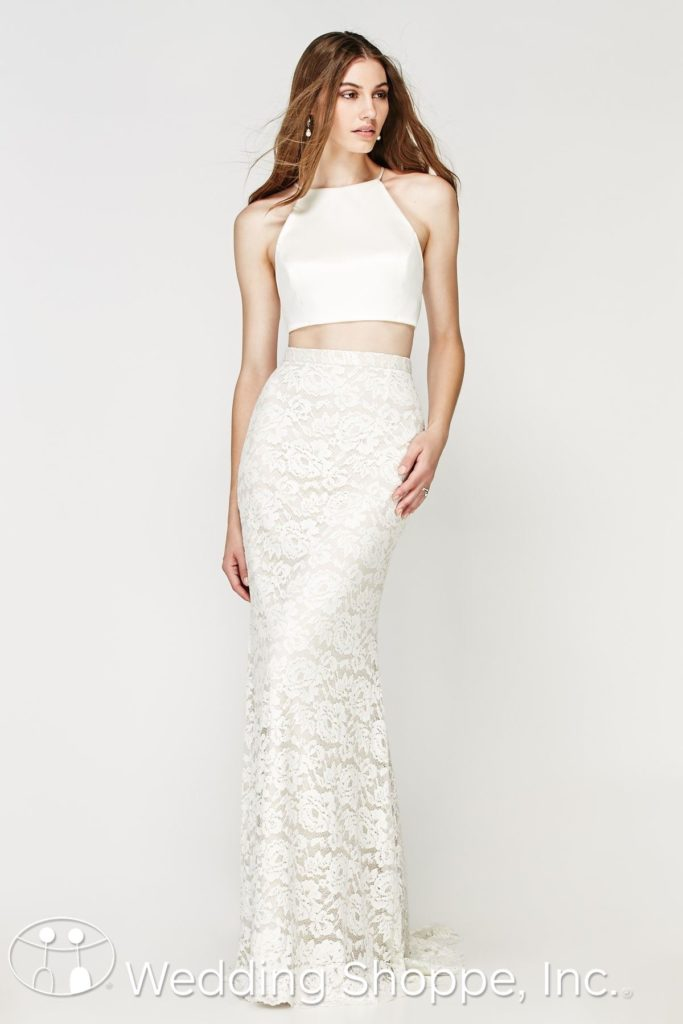 2 Piece Lace Bridal Gown Willowby By Watters