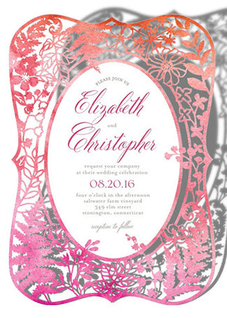 cutout wedding invite